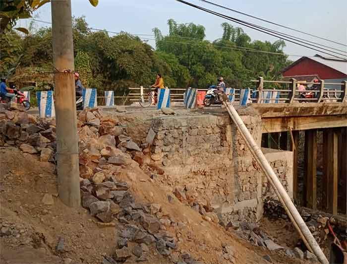 Jembatan Bajulan Diperbaiki